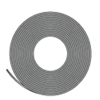 マグネットカラーシート ツヤ無 等方性 0.8tx1020x10m 黒色