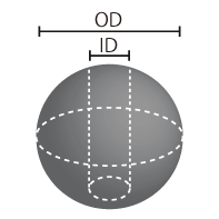 フェライト磁石 等方性  Φ6x(Φ1.5)